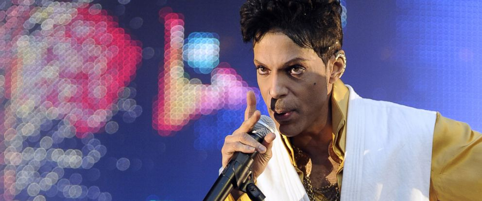 PHOTO: Singer and musician Prince (born Prince Rogers Nelson) performs on stage at the Stade de France in Saint-Denis, outside Paris, on June 30, 2011.