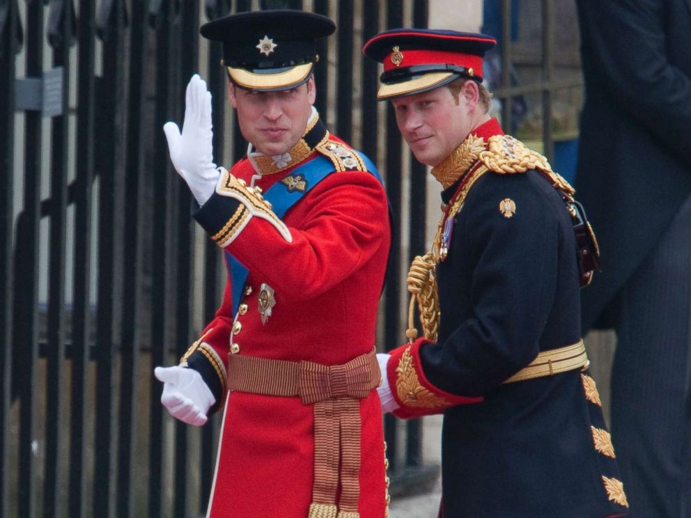 PHOTO: Britains Prince William arrives with his brother Prince Harry at Westminster Abbey for his royal wedding to Kate Middleton in London, April 29, 2011.