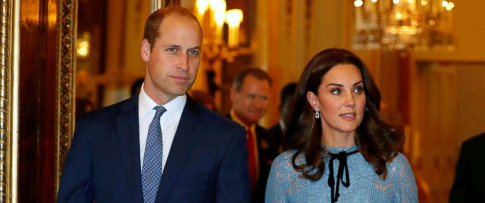 PHOTO: Britains Prince William, Duke of Cambridge, Catherine Duchess of Cambridge and Prince Harry celebrate World Mental Health Day at Buckingham Palace in London, Oct. 10, 2017.