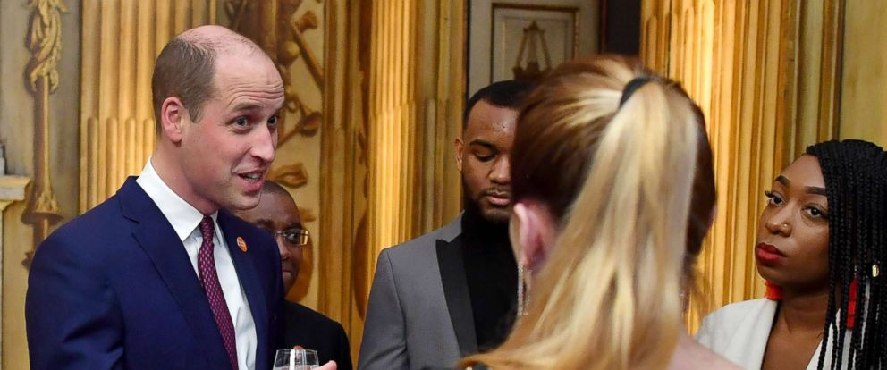 PHOTO: Britains Prince William, Duke of Cambridge meets young people who have benefited from the Centrepoint charity on his arrival to present the 2018 Centrepoint Awards and deliver a speech at Kensington Palace in London, Feb. 8, 2018.