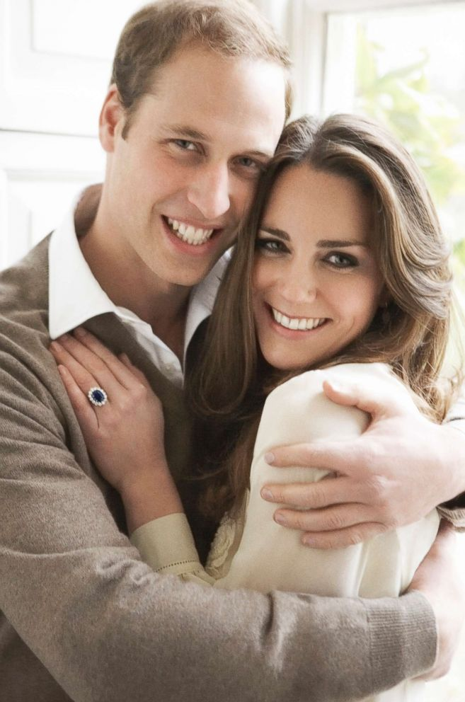 PHOTO: Prince William and Miss Catherine Middleton are pictured, Nov. 25, 2010 in the Cornwall Room at St. Jamess Palace in London, in this official portrait that they have chosen to release to mark their engagement.