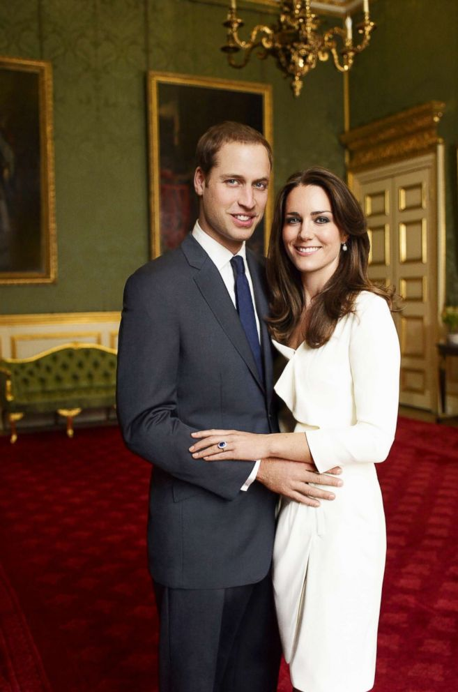 PHOTO: Prince William and Miss Catherine Middleton are pictured, Nov. 25, 2010 in the Council Chamber at St. Jamess Palace in London, in this official portrait that they have chosen to release to mark their engagement.
