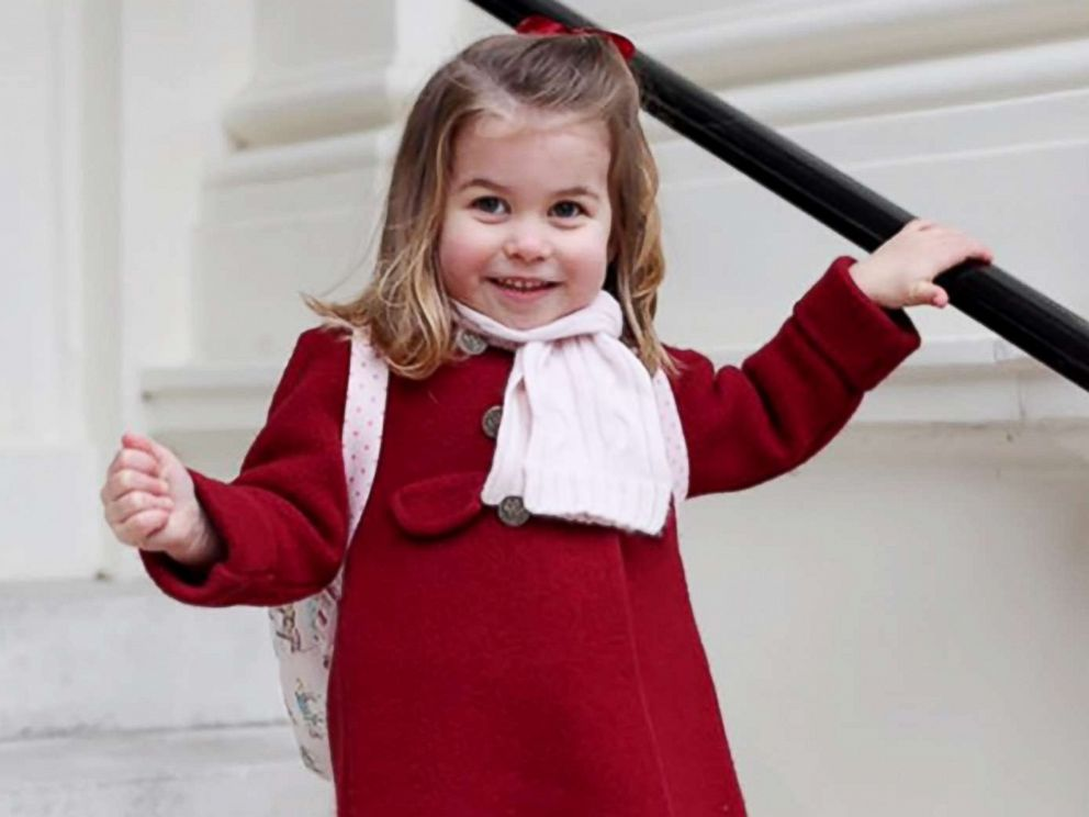 PHOTO: Princess Charlotte prepares to attend her first day at school in this photo posted on Twitter by Kesington Palace.