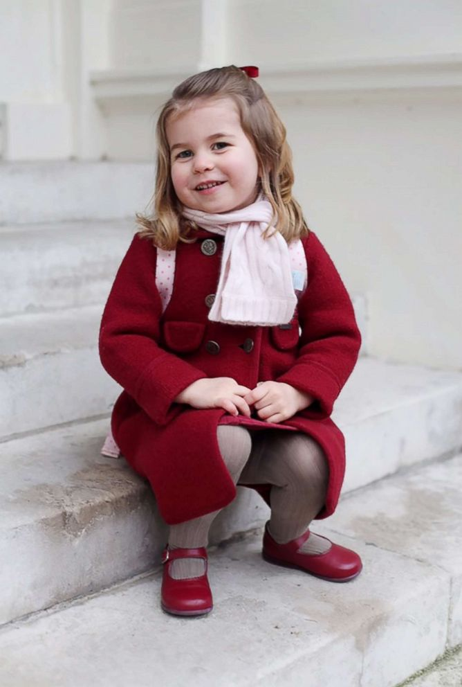 PHOTO: Princess Charlotte poses for a photograph taken by her mother, Catherine, Duchess of Cambridge, at Kensington Palace, shortly before the princess left for her first day of nursery at the Willcocks Nursery School, Jan. 8, 2018 in London.
