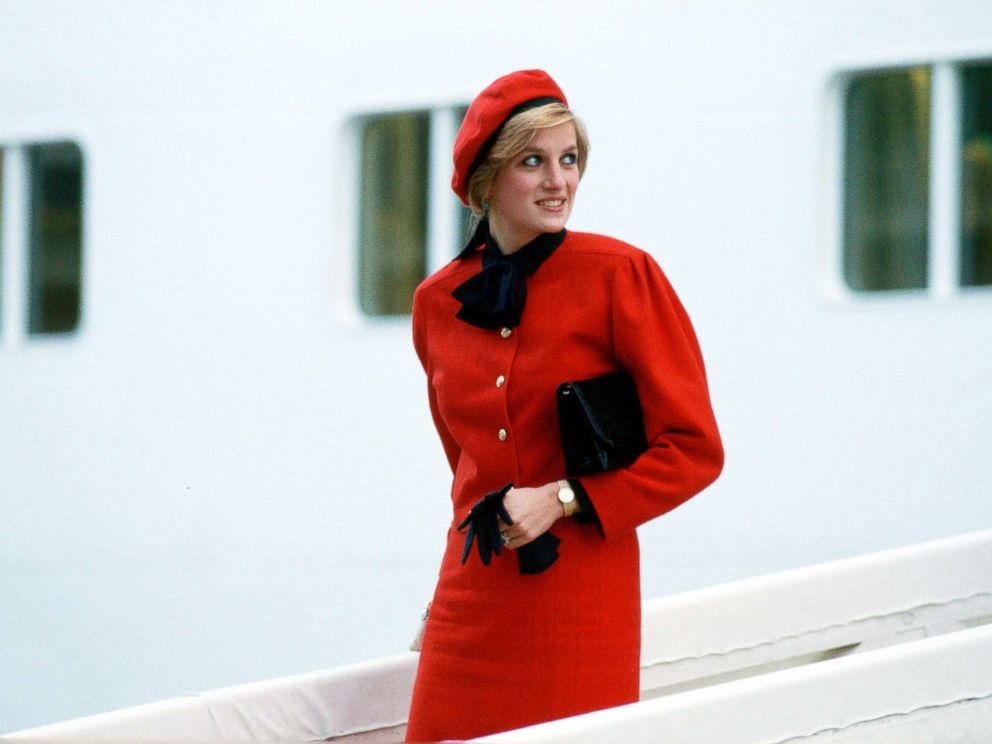 PHOTO: Princess Diana aboard the new P & O Cruise Liner Royal Princess, named in honor of her, after giving the ship its name at a formal naming ceremony, Nov. 15, 1984.