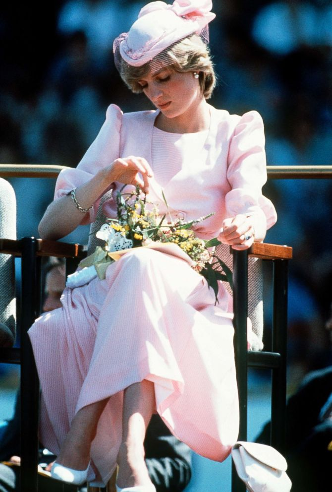 PHOTO: Diana, Princess of Wales, wearing a Catherine Walker pink dress during a visit to Newcastle, March 29, 1983 in Newcastle, Australia.