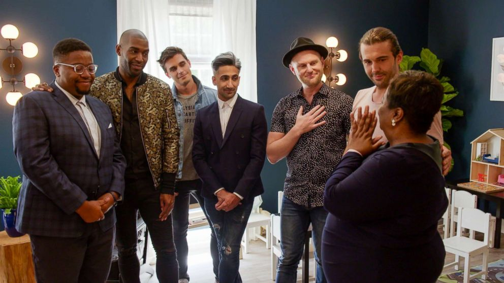 """A production still is seen from """"Queer Eye."""""""