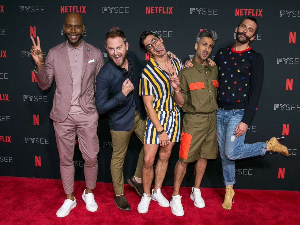 PHOTO: Karamo Brown, Bobby Berk, Antoni Porowski, Tan France and Jonathan Van Ness attend a Netflix event at Raleigh Studios on May 31, 2018 in Los Angeles.