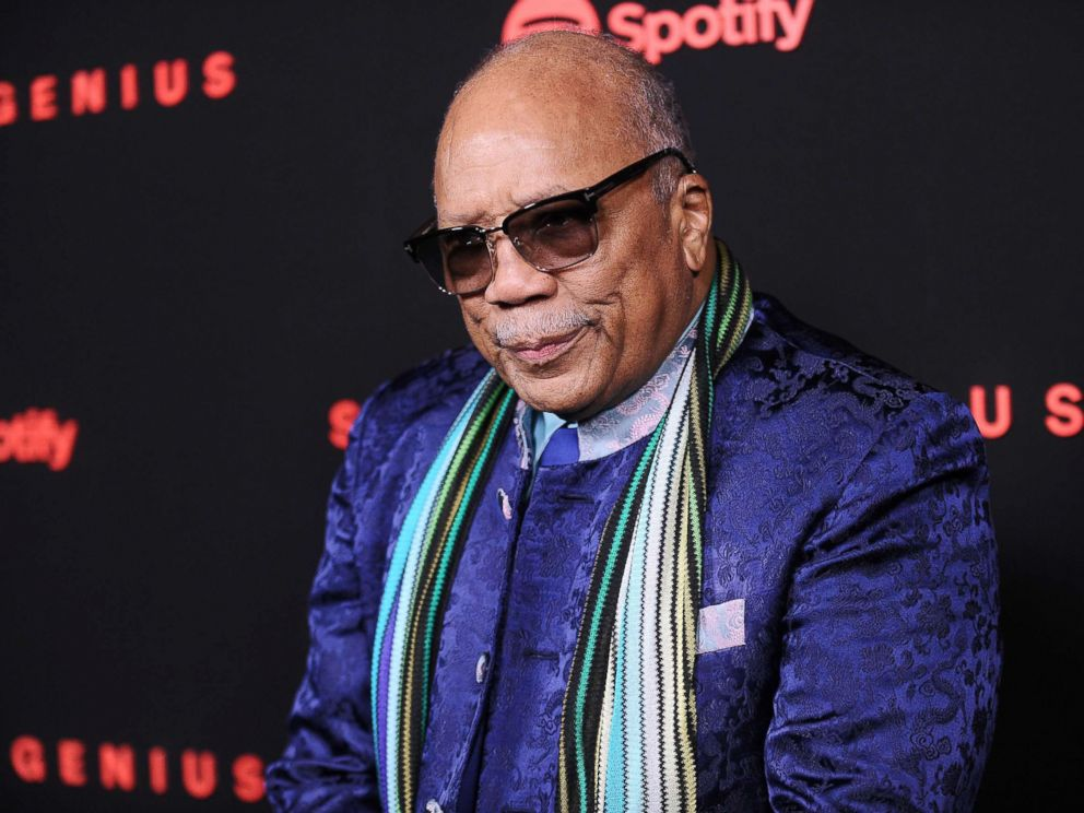PHOTO: Quincy Jones attends Spotifys inaugural Secret Genius Awards at Vibiana Cathedral on Nov. 1, 2017 in Los Angeles.