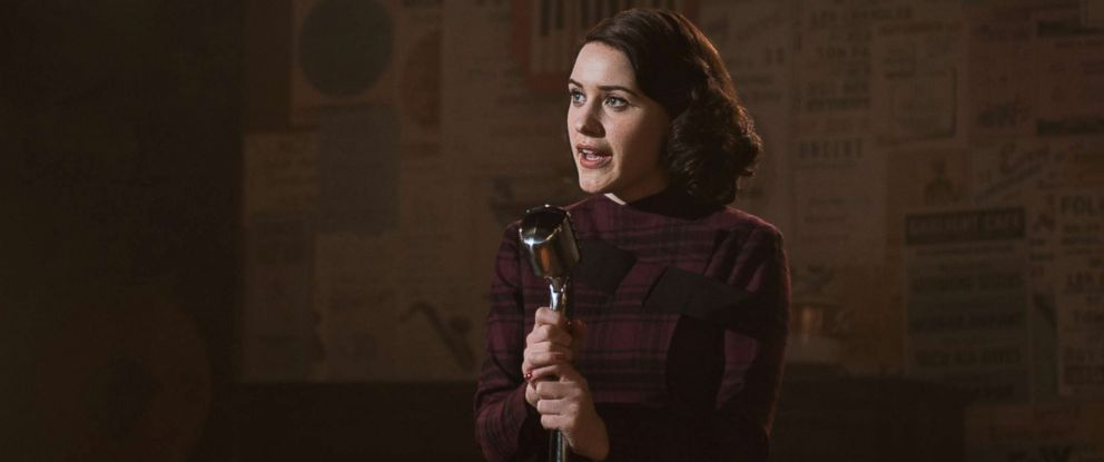 "PHOTO: Rachel Brosnahan as Midge Maisel in the first season of Amazons ""The Marvelous Mrs. Maisel,"" 2017."