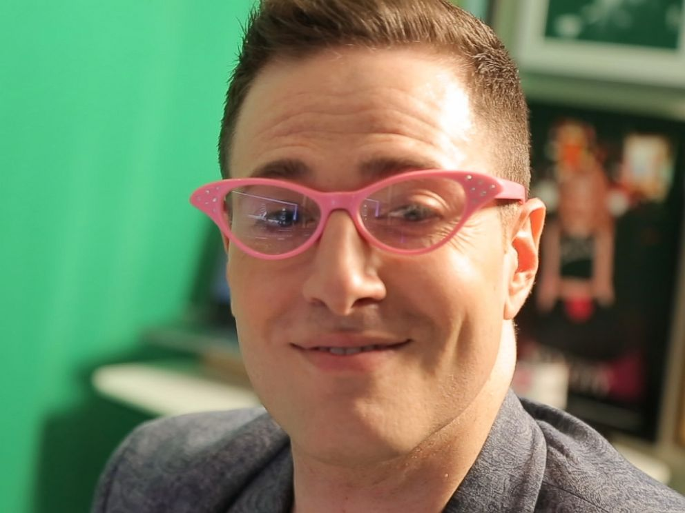 PHOTO: Randy Rainbow in his trademark pink glasses.