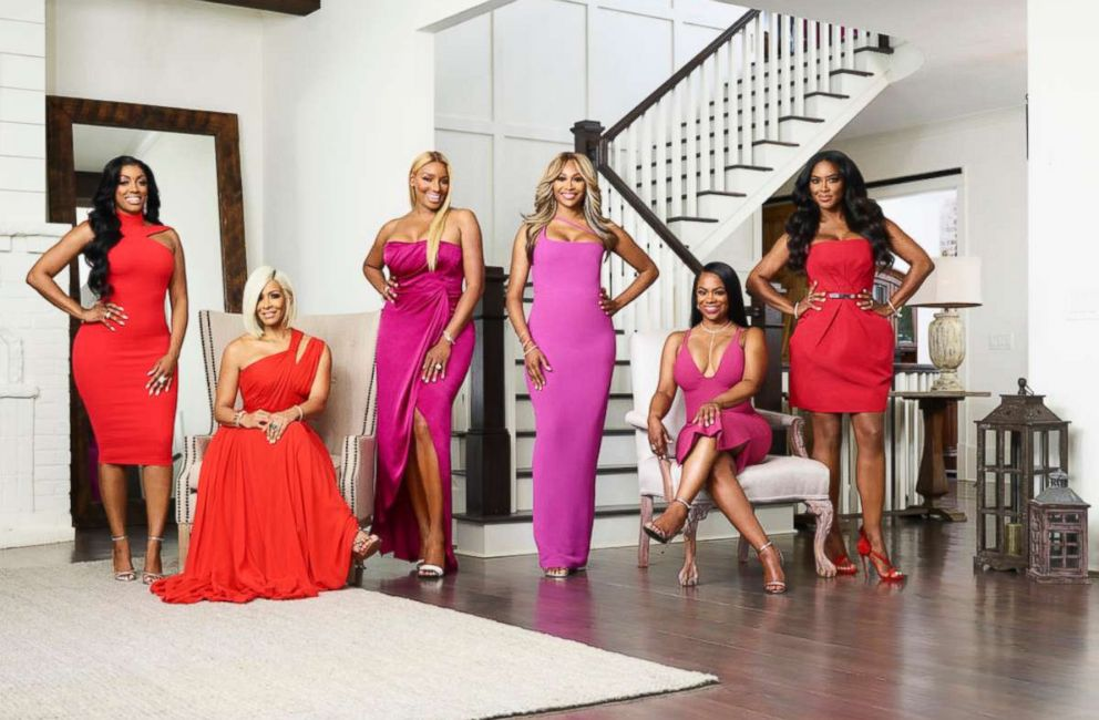 PHOTO: The cast of Real Housewives of Atlanta, season ten is Porsha Williams, Sheree Whitfield, NeNe Leakes, Cynthia Bailey, Kandi Burruss, and Kenya Moore.