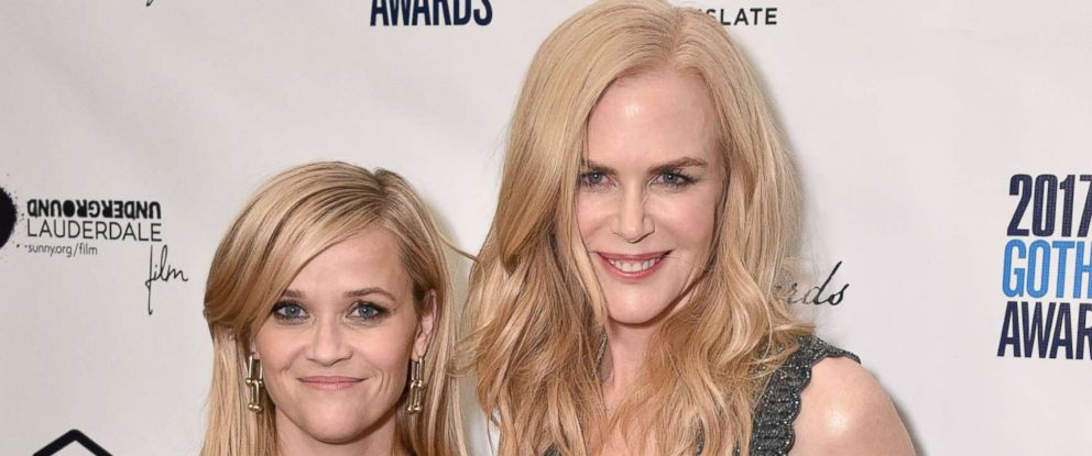 PHOTO: Actors Reese Witherspoon and Nicole Kidman pose with an award at The 2017 IFP Gotham Independent Film Awards, Nov. 27, 2017, in New York.