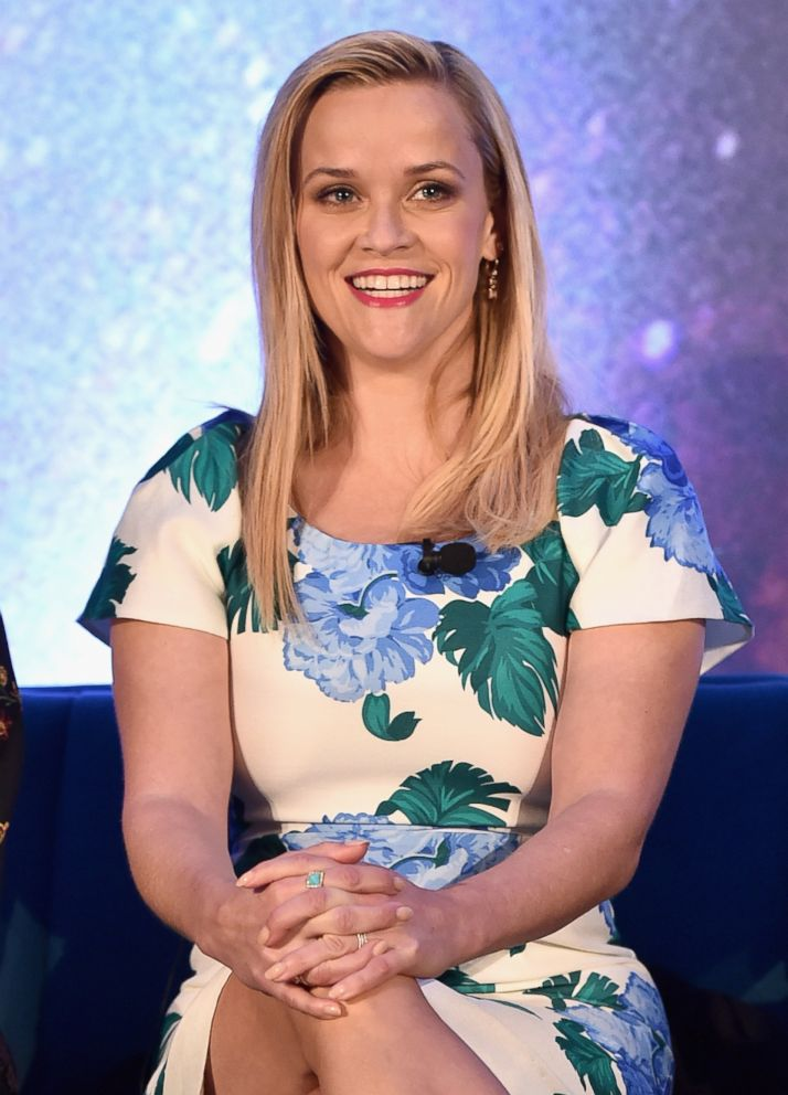 PHOTO: Reese Witherspoon participates in the press conference, March 25, 2018, in Hollywood, Calif.