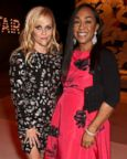 Reese Witherspoon (L) and producer Shonda Rhimes attend the 2017 Vanity Fair Oscar Party hosted by Graydon Carter at Wallis Annenberg Center for the Performing Arts, Feb. 26, 2017 in Beverly Hills, Calif.