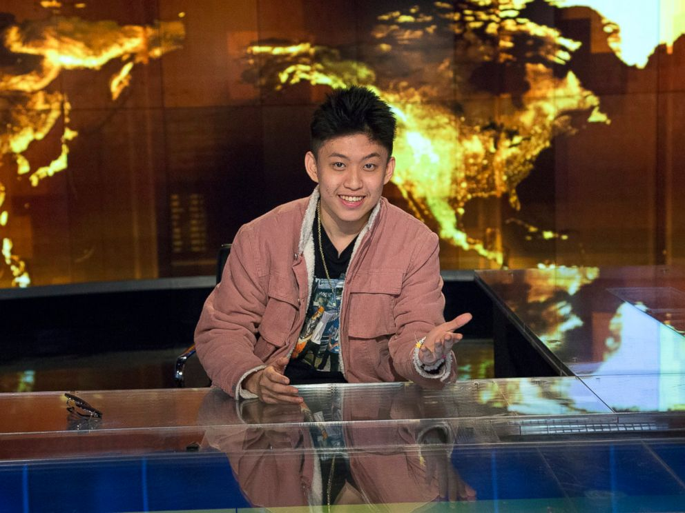 PHOTO: Rich Chigga speaks with ABC News Alexa Valiente, Nov.7, 2017, at ABC News studios in New York City.