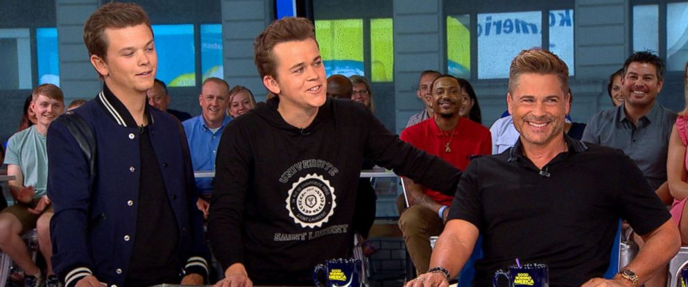 """PHOTO: Rob Lowe and his sons Matthew and John discussed their new show """"The Lowe Files,"""" on """"Good Morning America,"""" July 24, 2017."""