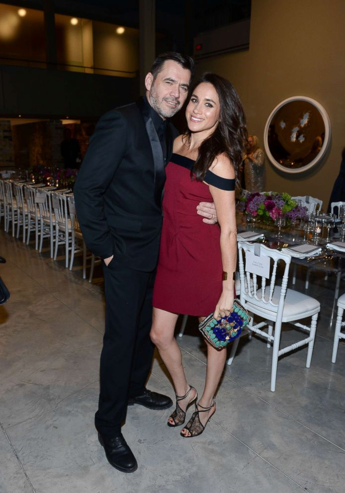 PHOTO: Designer Roland Mouret and actress Meghan Markle attend the Roland Mouret private dinner at Corkin Gallery on April 28, 2016 in Toronto.