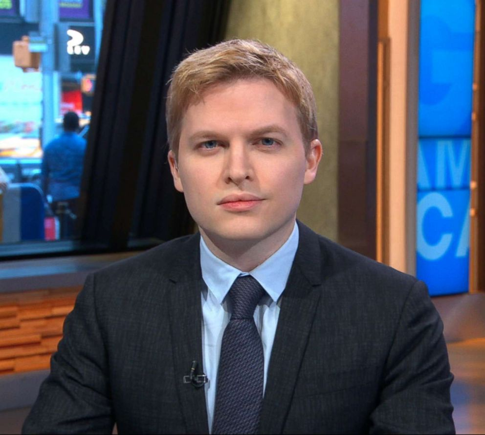 PHOTO: Ronan Farrow appears on Good Morning America, May 25, 2018.