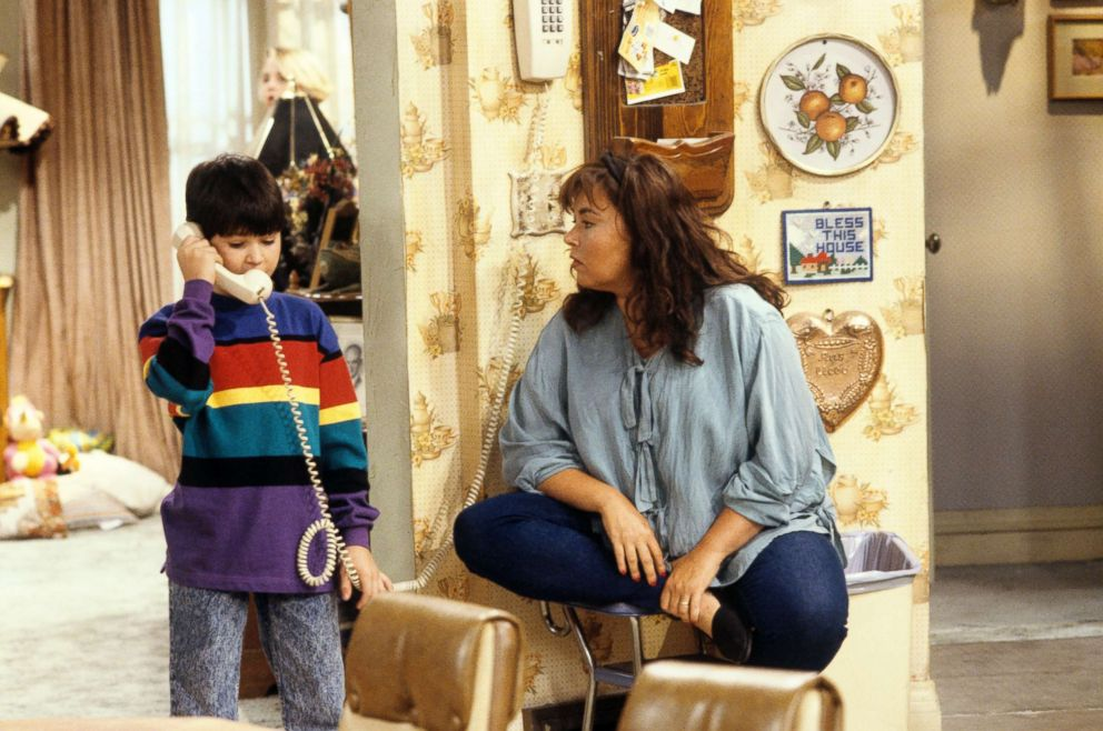 PHOTO: Michael Fishman, who plays D.J. and Roseanne Barr, Sept. 15, 1992.