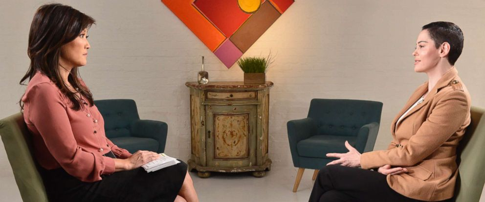 "PHOTO:ABC News ""Nightline"" co-anchor Juju Chang sat down for an extensive interview with Rose McGowan about her new book ""Brave"" and McGowans allegations that Harvey Weinstein raped her."