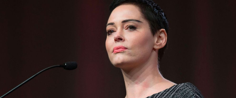 PHOTO: Rose McGowan gives opening remarks to the audience at the Womens Convention in Detroit, Mich., Oct. 27, 2017.