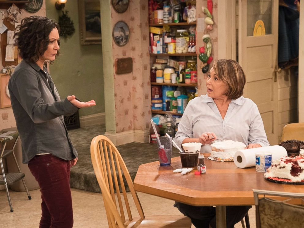 PHOTO: On an episode of Roseanne Darlene and Roseanne are pictured in the kitchen.