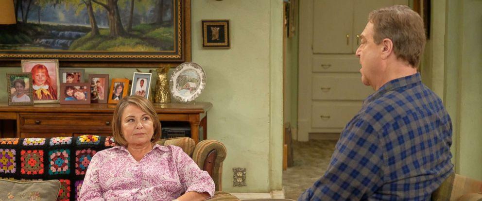 "PHOTO: Roseanne and John Goodman star in ""Roseanne,"" 2018."