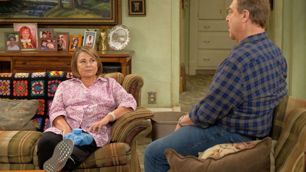 "Roseanne and John Goodman star in ""Roseanne,"" 2018."