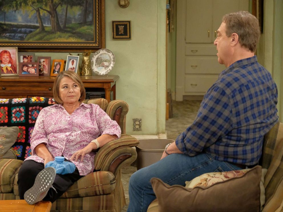 PHOTO: Roseanne and John Goodman star in Roseanne, 2018. <p itemprop= ABC network head praised for swift cancellation of 'Roseanne' after star's tweet ABC network head praised for swift cancellation of 'Roseanne' after star's tweet roseanne abc er 180316 hpMain 4x3 992