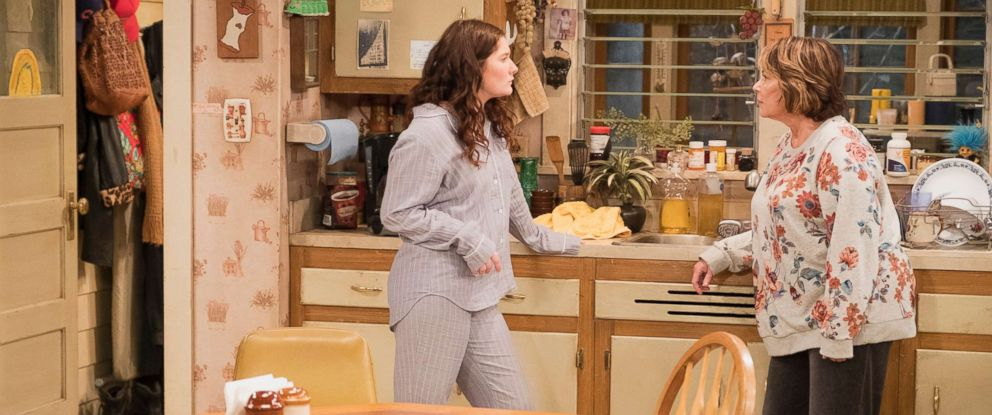 "PHOTO: Emma Kenney and Roseanne Barr appear in a scene from the reboot of ""Roseanne."""