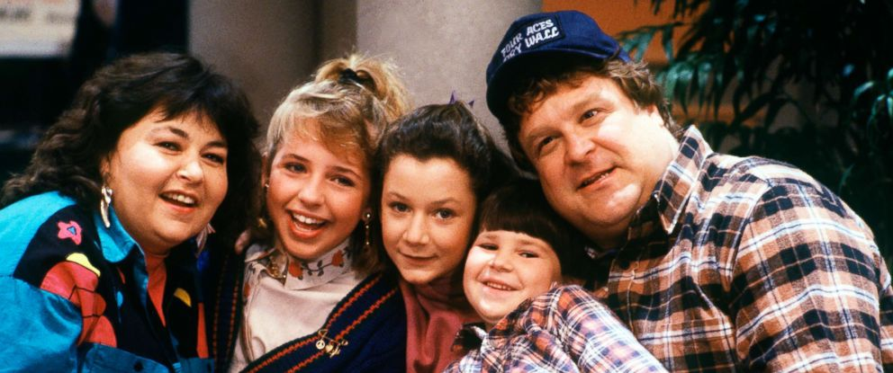 "PHOTO: The cast of the iconic comedy series ""Roseanne"" from season one pictured on Dec. 12, 1988."