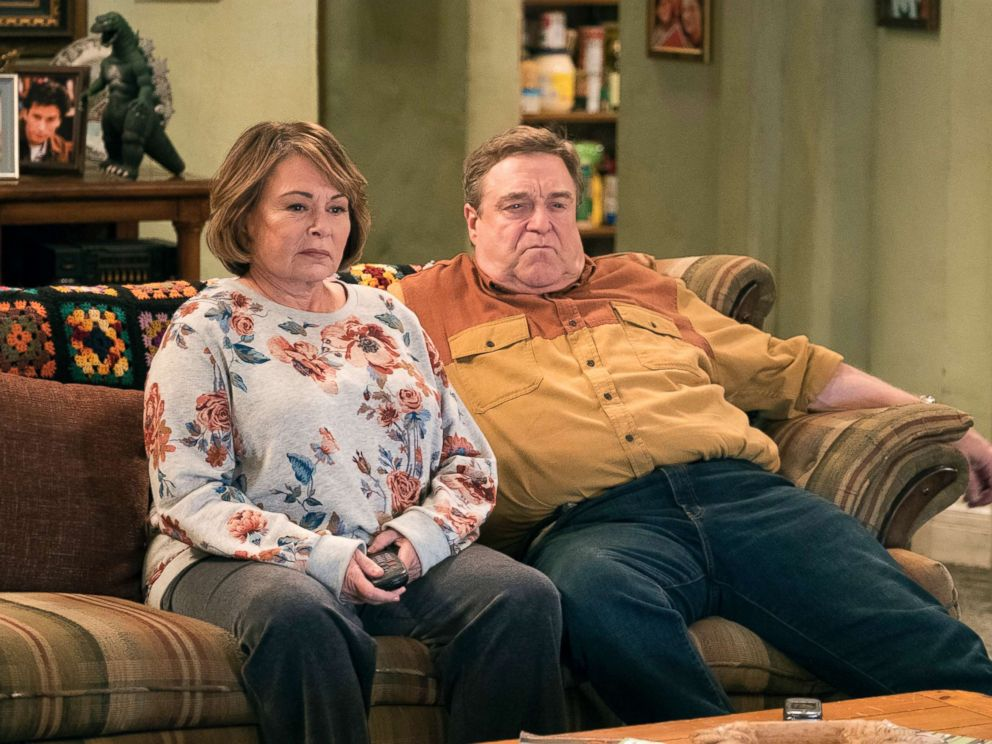 PHOTO: Roseanne Barr, left, and John Goodman appear in a scene from the reboot of Roseanne.