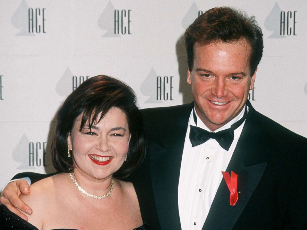 PHOTO: Roseanne and Tom Arnold during The 13th Annual Cable ACE Awards at Pantages Theater in Hollywood, Calif., in 1992.