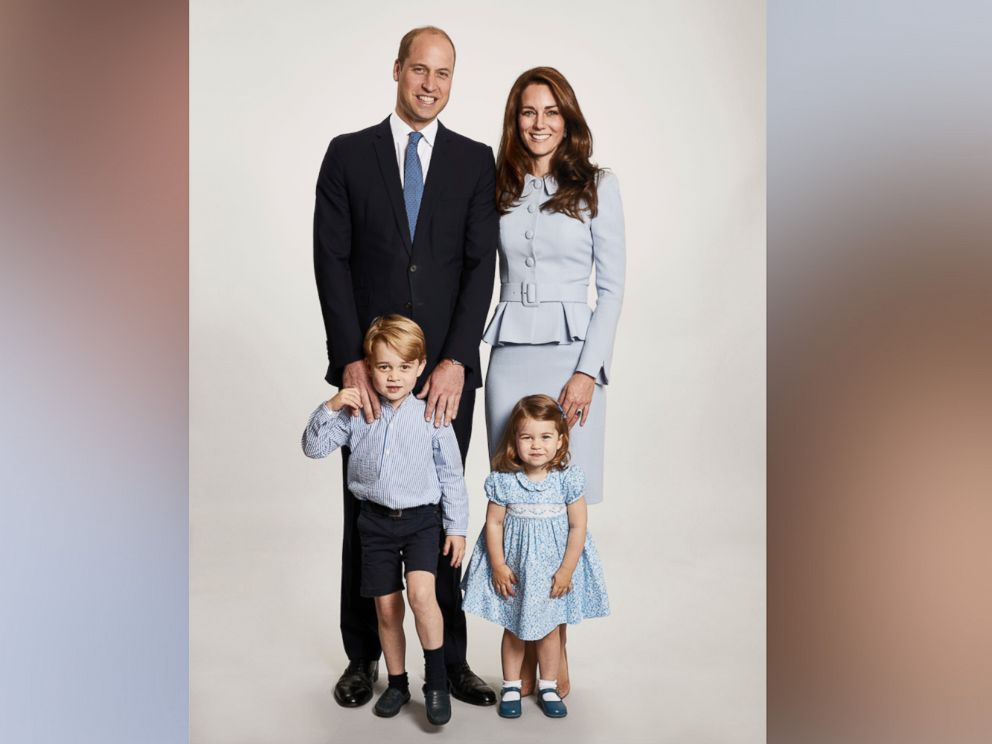 The British Prince William and Kate, the Duchess of Cambridge pose with their children Prince George and Princess Charlotte at the Kensington Palace in this undated photo provided by Kensington Palace. The photo has been used on the Cambridges Christmas card.