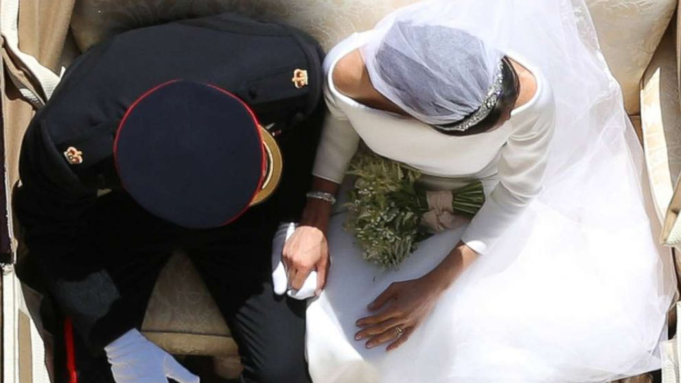 Prince Harry and Meghan Markle ride in an Ascot Landau along the Long Walk after their wedding in St George's Chapel in Windsor Castle in Windsor, England, May 19, 2018.