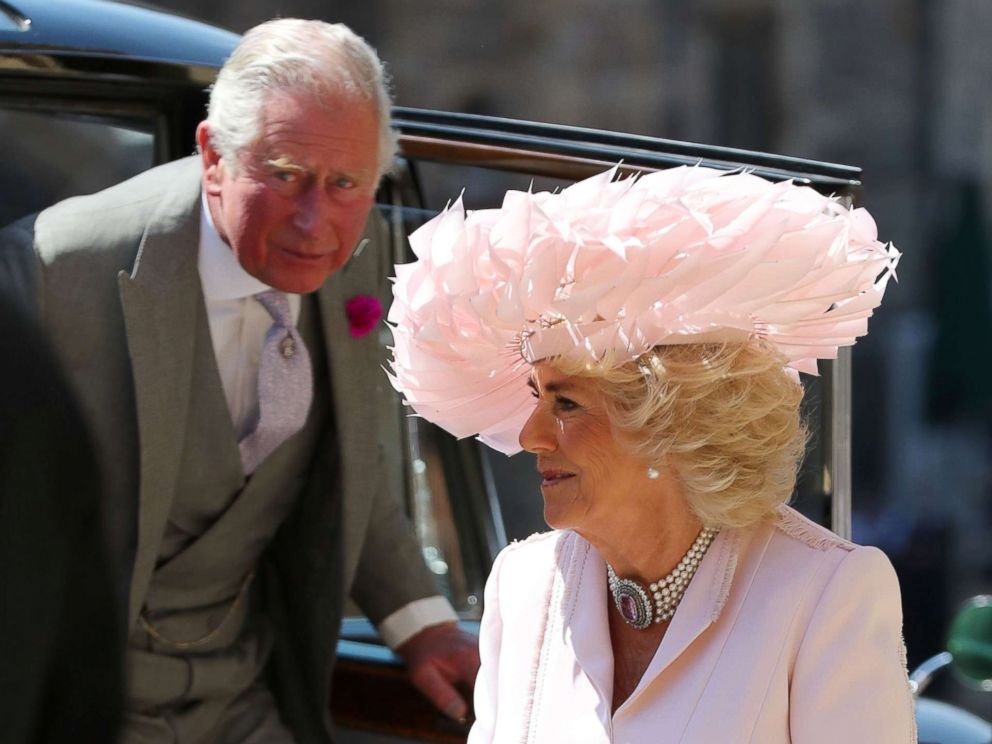 PHOTO: The Prince of Wales and Duchess of Cornwall arrive at St Georges Chapel at Windsor Castle for the wedding of Meghan Markle and Prince Harry in Windsor, May 19, 2018.