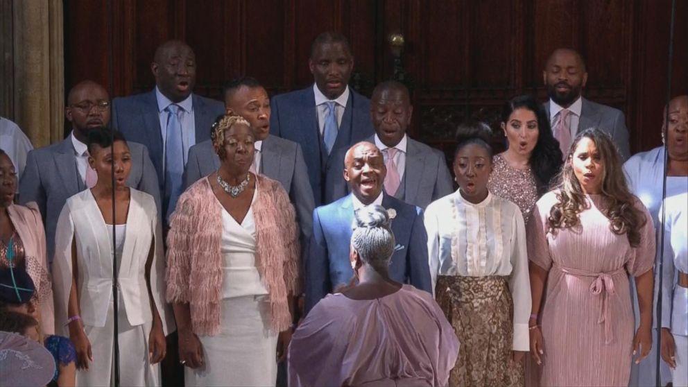 f03f60c3 Karen Gibson and The Kingdom Choir sang during the royal wedding on May 19,  2018. ABC News