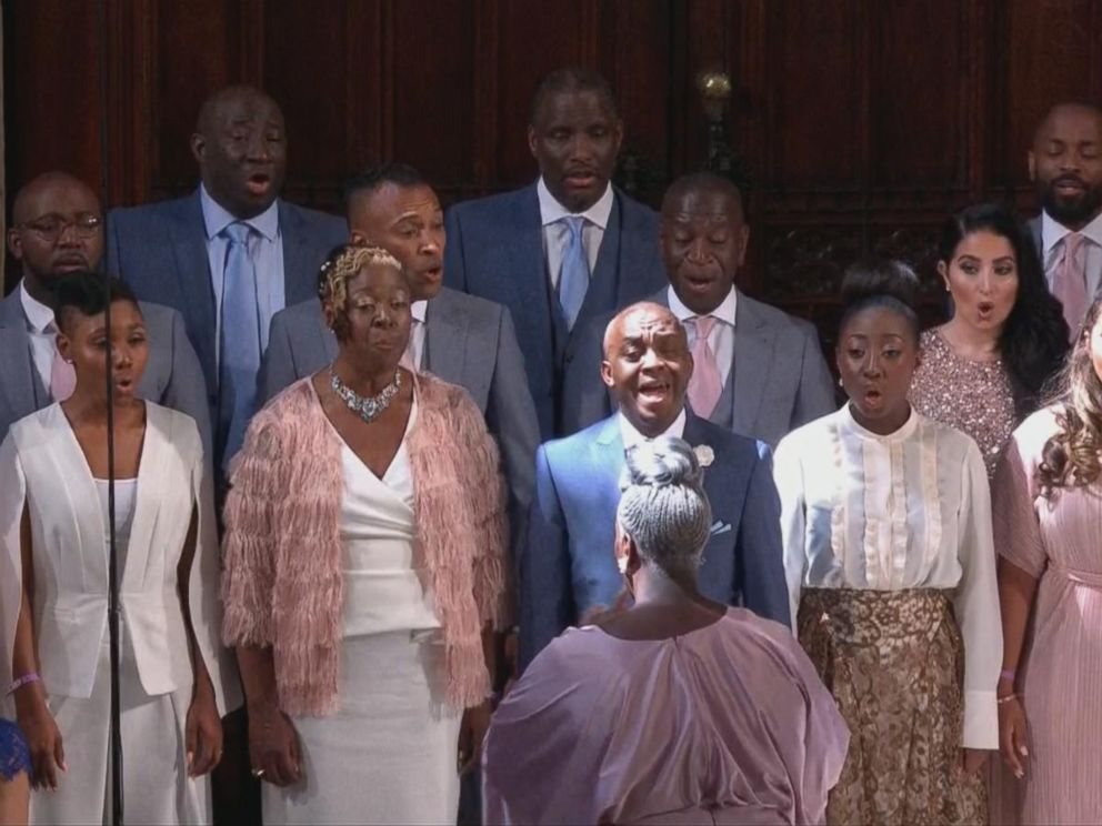 PHOTO: Karen Gibson and The Kingdom Choir sang during the royal wedding on May 19, 2018.