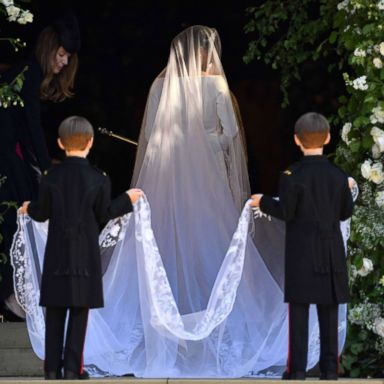 b58acea9 Meghan Markle's royal wedding dress designers speak out for 1st time on her  gowns | GMA