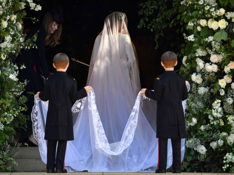 PHOTO: Meghan Markle arrives for the wedding ceremony to marry Britains Prince Harry, Duke of Sussex, at St Georges Chapel, Windsor Castle, in Windsor, May 19, 2018.
