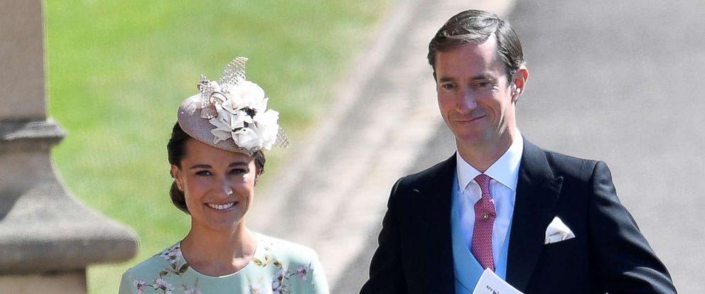 PHOTO: Pippa Middleton arrives with her husband James Matthews to the wedding of Prince Harry and Meghan Markle in Windsor, May 19, 2018.