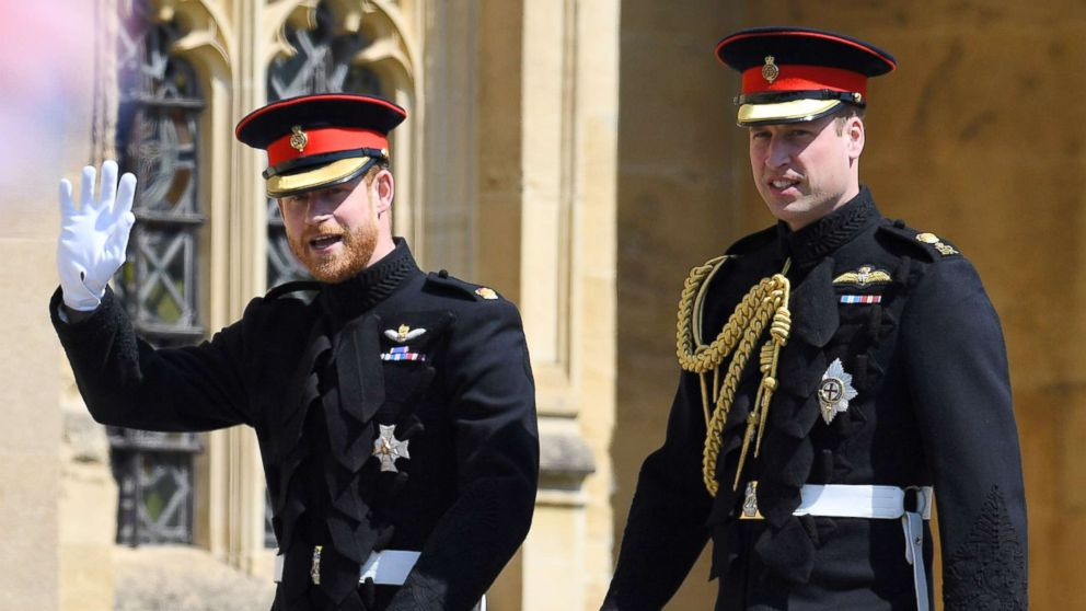 Prince Harry and Prince William arrive for the royal wedding  Windsor, May 19, 2018.