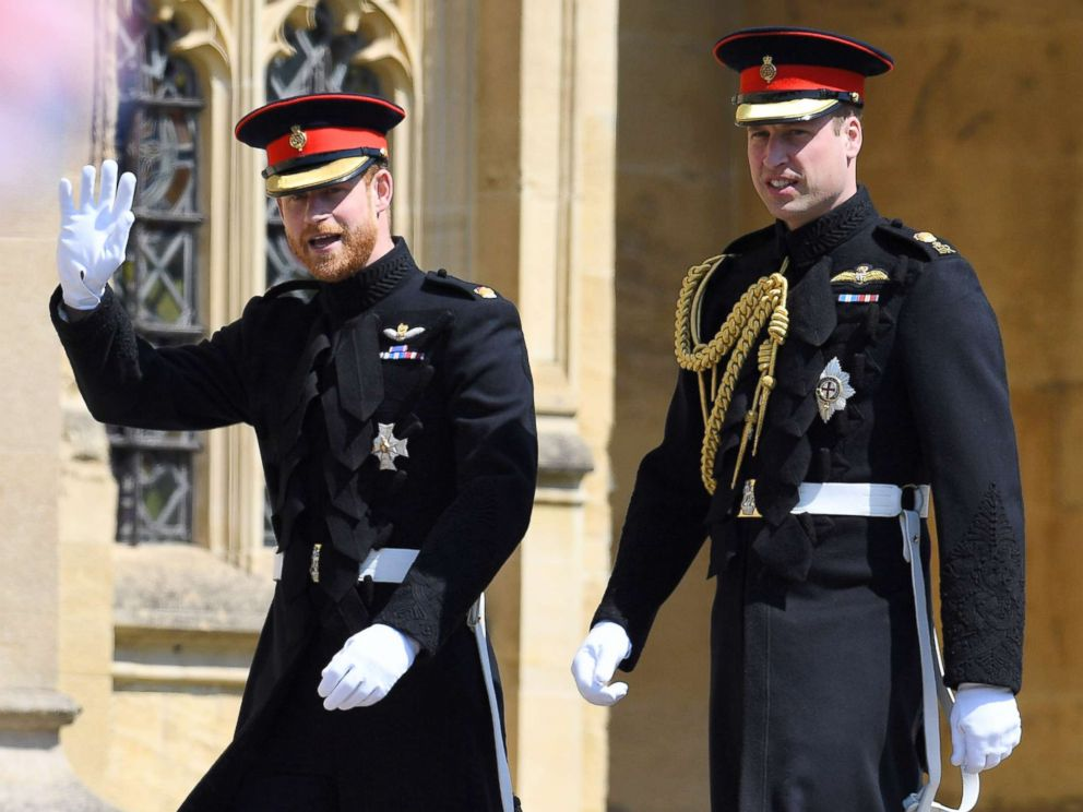 PHOTO: Prince Harry and Prince William arrive for the royal wedding Windsor, May 19, 2018.