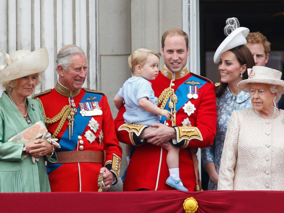 PHOTO: The British royal family stand on the balcony of Buckingham Palace during Trooping the Color, June 13, 2015 in London.