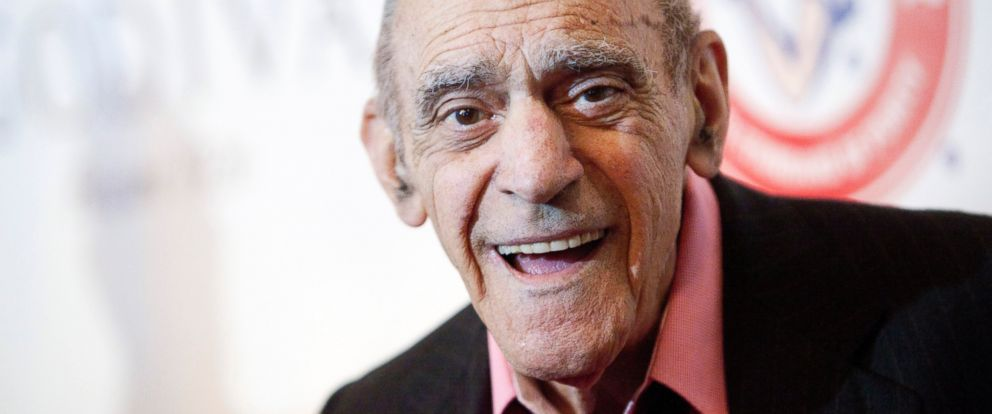 PHOTO: Abe Vigoda smiles as he attends the Friars Club Roast of Betty White in New York, May 16, 2012.