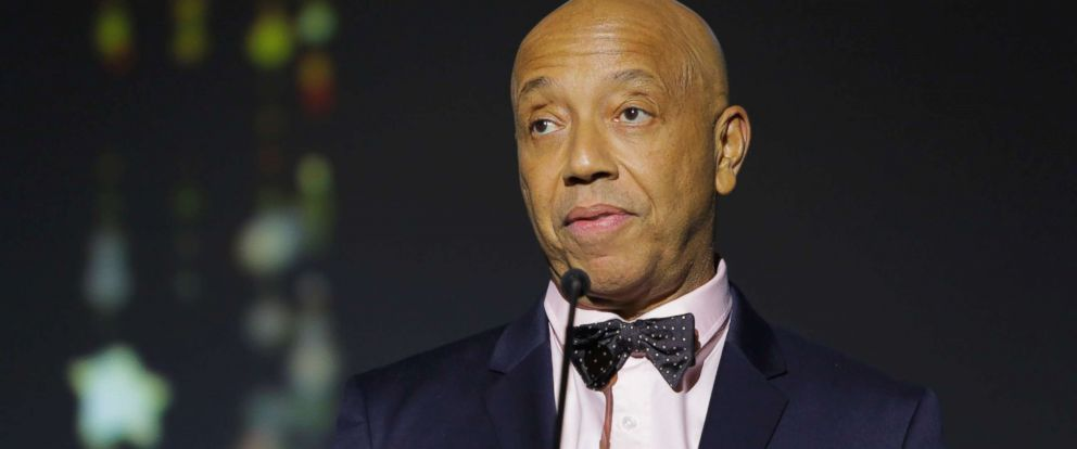 PHOTO: Music producer Russell Simmons speaks onstage at the 2017 Make a Wish Gala, Nov. 9, 2017, in Los Angeles.