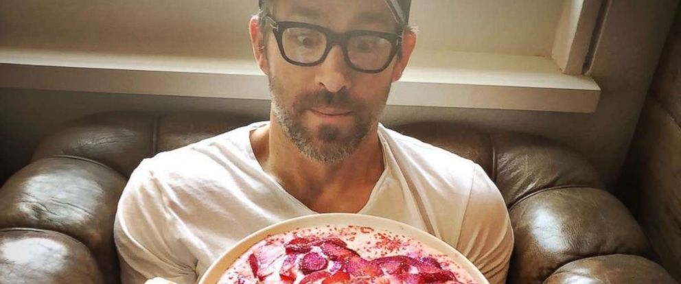"PHOTO: Ryan Reynolds posted a photo to Instagram with the caption, ""I baked this cake for my wife. The icing is glue, 'cause I'm not a scientist"" on Feb. 14, 2018."