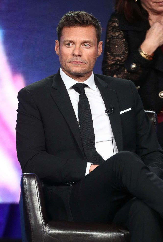 PHOTO: Ryan Seacrest speaks onstage during the ABC Television/Disney portion of the 2018 Winter Television Critics Association Press Tour at The Langham Huntington, Pasadena, Jan. 8, 2018 in Pasadena, California.