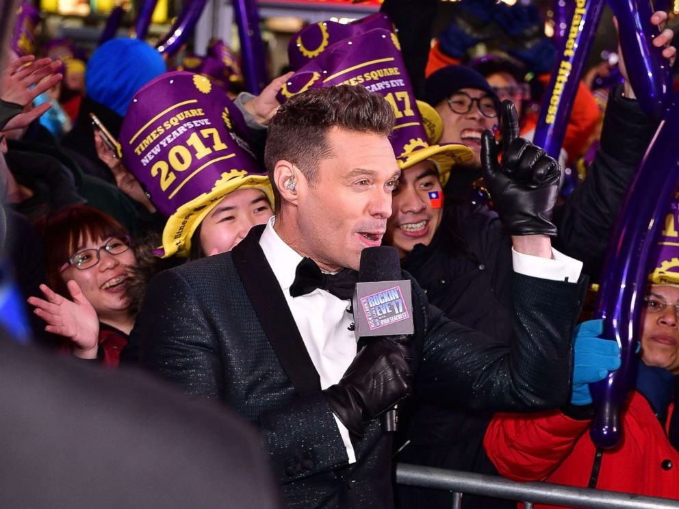 PHOTO: Ryan Seacrest attends New Years Eve 2017 in Times Square, Dec. 31, 2016, in New York City.
